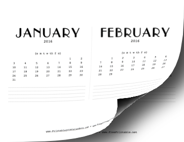 Cd Case Calendar 2016 Free | Calendar Template 2016